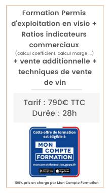 Permis d'exploitation, vente additionnelle, techniques de vente de vin