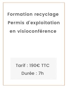 Recyclage Permis d'exploitation