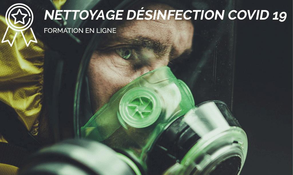 Formation en ligne nettoyage désinfection COVID 19