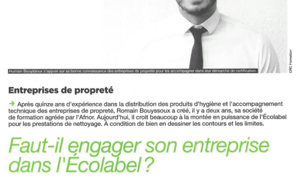 """Article """"Faut-il engager son entreprise dans l'Ecolabel?"""""""